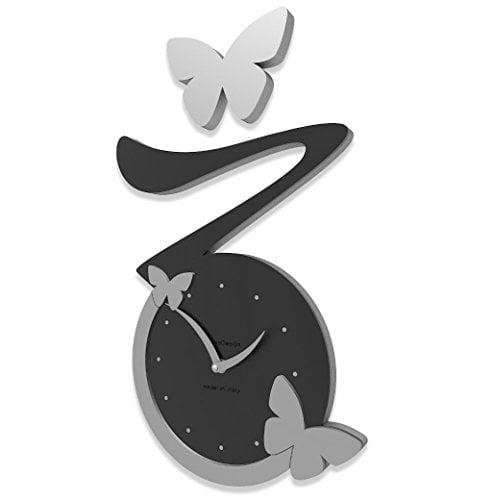 Orologio da parete di design con farfalle for Orologio da muro farfalle