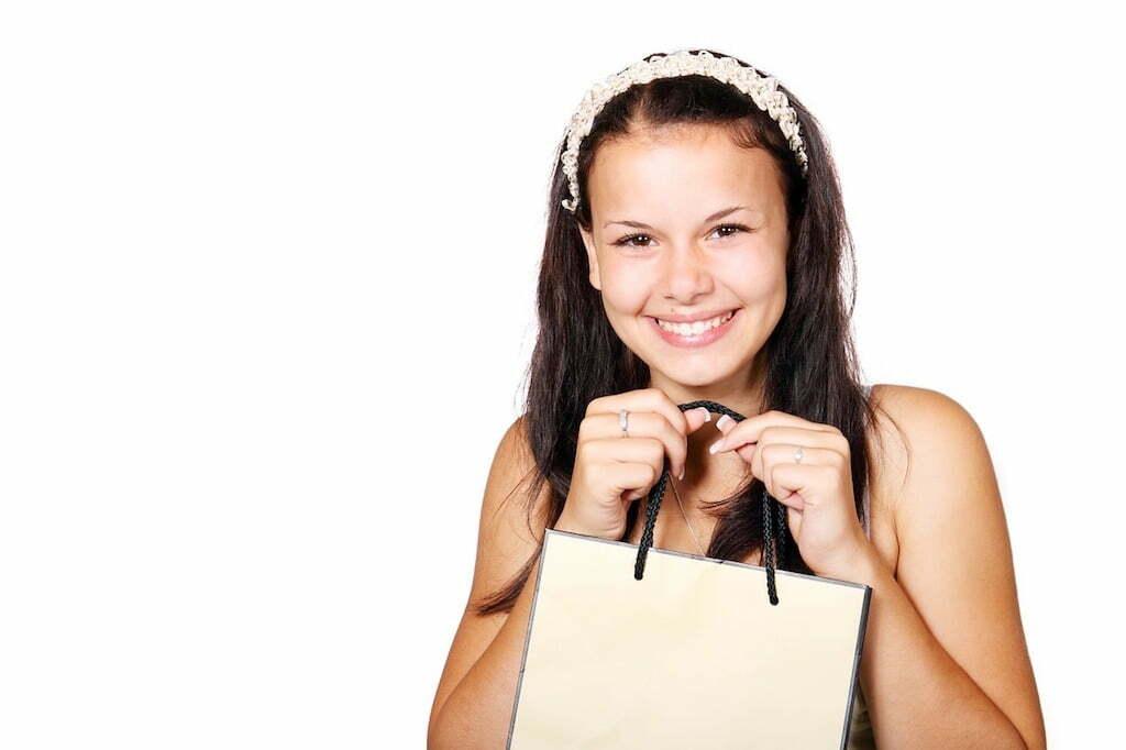 borsa con stampa donna