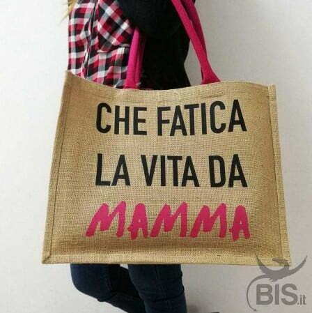 borsa con stampa da mamma