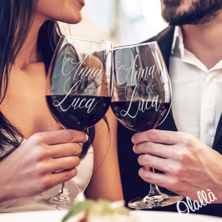 coppia bicchieri personalizzati